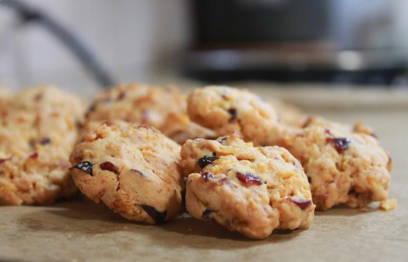 Resepi Biskut Cranberry Cornflakes