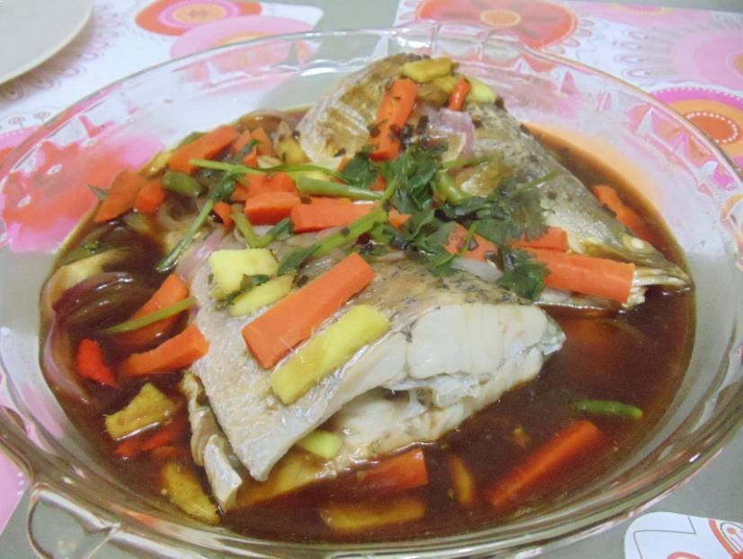 Resepi Ikan Bawal Kukus