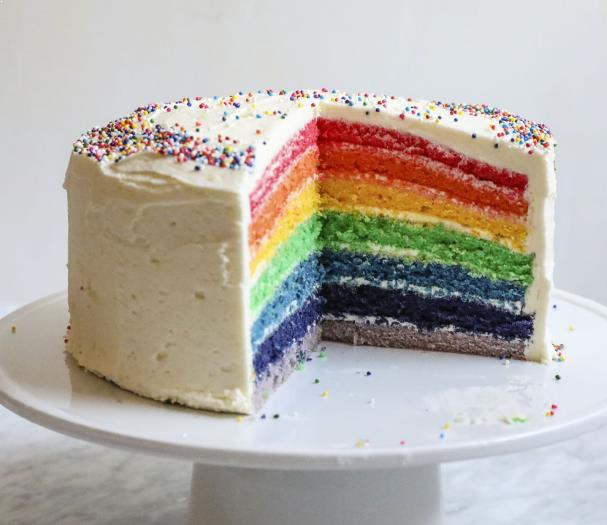 Resepi Kek Rainbow
