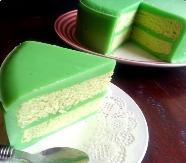 Resepi Pandan Layer Cake