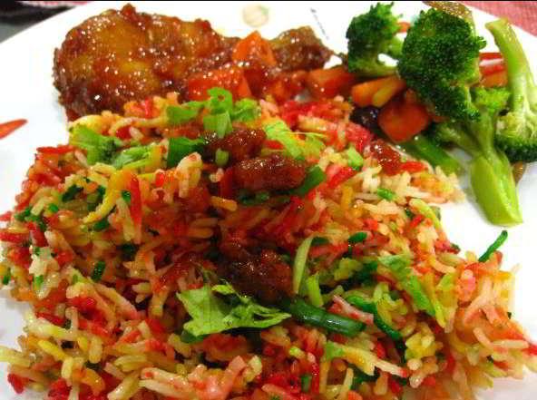 resepi nasi hujan panas guna beras biasa