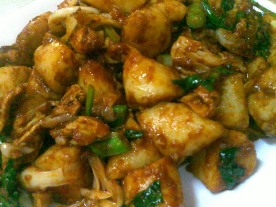 resepi nasi impit goreng