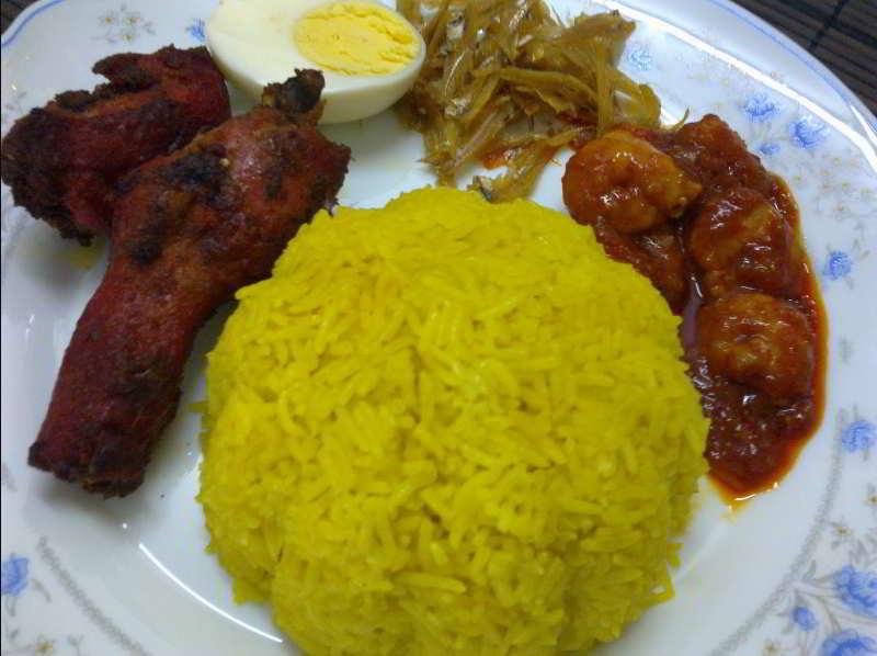 resepi nasi lemak kuning sedap