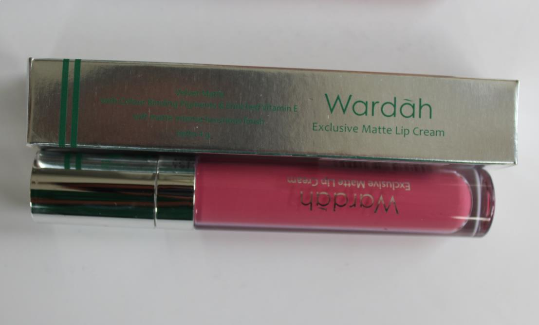 Warna Lipstik Wardah Exclusive Matte Lip Cream Shade Fuschionately