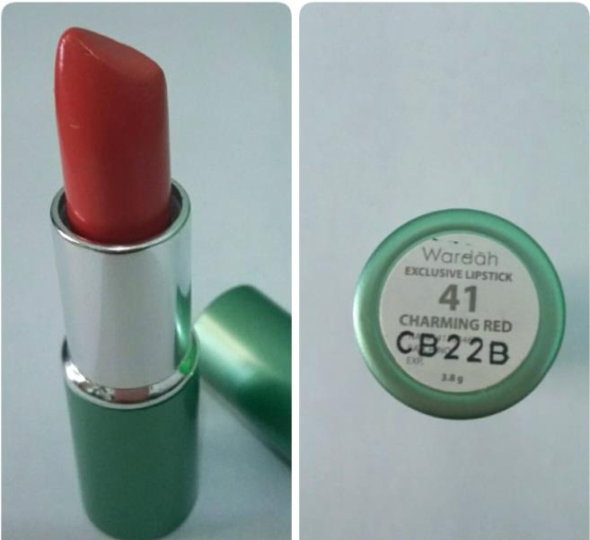 lipstik wardah charming red 41
