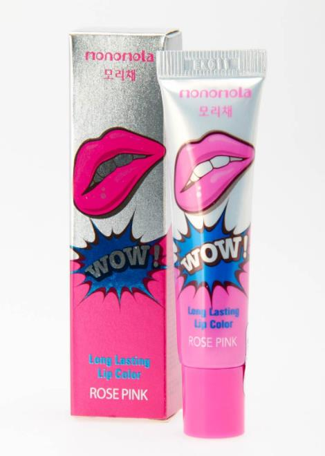 Monomola lip tattoo rose pink