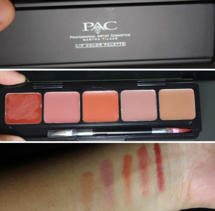 PAC lip color palette