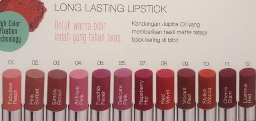 Warna Lipstik Wardah Longlasting