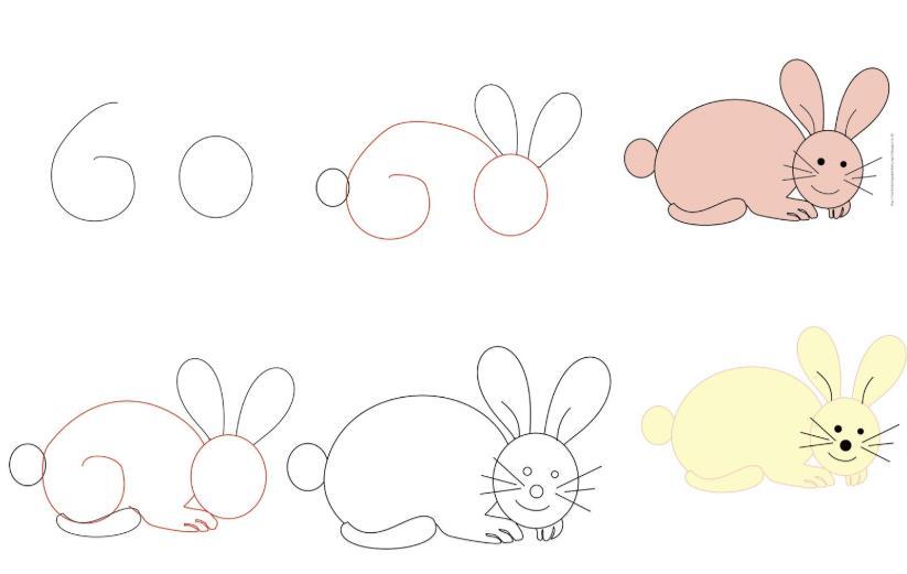 Cara Menggambar Kelinci Yang Mudah Untuk Pemula