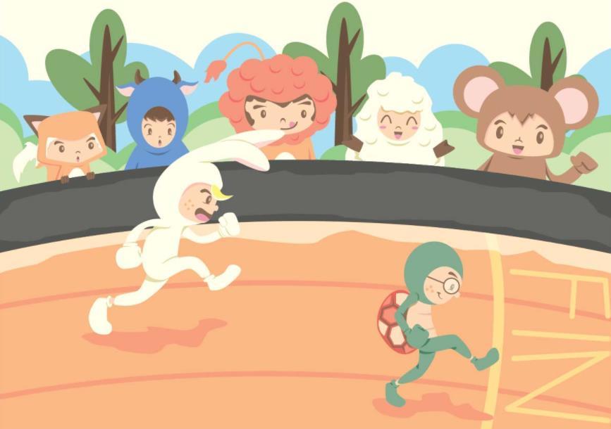 Gambar Kelinci Dan Kura Kura Lomba Lari Ada Lomba